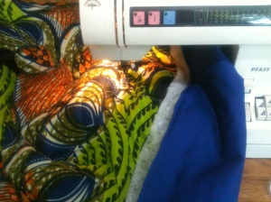 Padding African fabric